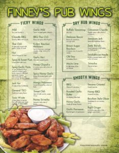 Finneys Wings Menu